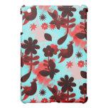 El rojo del trullo florece pájaros que se descolor iPad mini funda