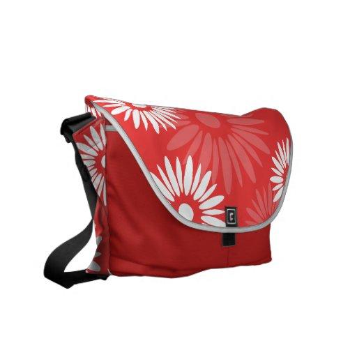 El rojo del verano florece la bolsa de mensajero bolsa messenger