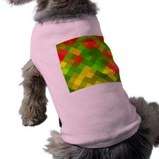 El rojo del verde amarillo modela color de los playera sin mangas para perro