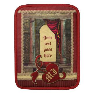 El rojo dramático de las columnas clásicas funda para iPads