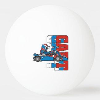 El rojo, el azul blanco va carro pelota de tenis de mesa