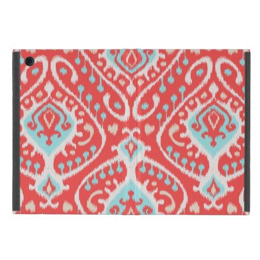 El rojo elegante elegante y el ikat tribal de la t iPad mini fundas