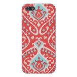 El rojo elegante elegante y el ikat tribal de la t iPhone 5 carcasa