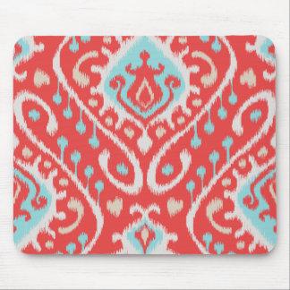 El rojo elegante elegante y el ikat tribal de la t tapetes de raton