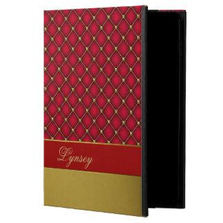 El rojo elegante y el oro empenacharon la caja del