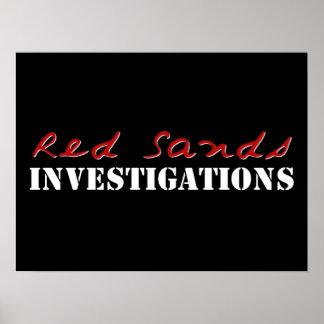 El rojo enarena el poster del logotipo