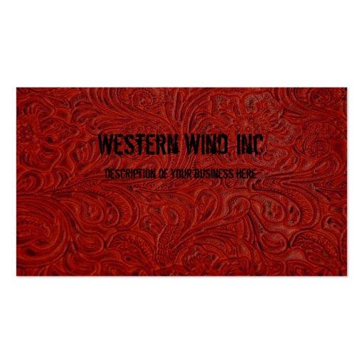 El rojo equipó la tarjeta de visita de cuero de la