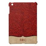 El rojo equipó occidental de cuero de la mirada pe iPad mini carcasas