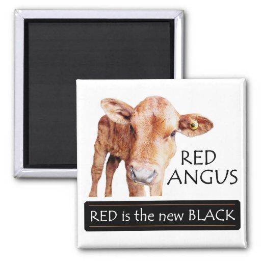 El rojo es el nuevo negro iman de frigorífico