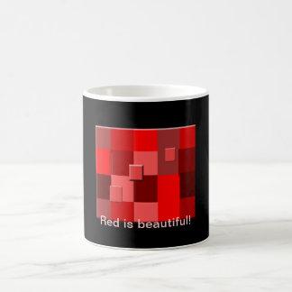 El rojo es taza hermosa