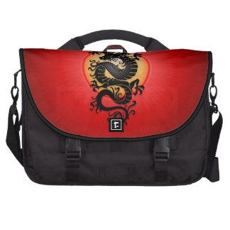 El rojo estalló el dragón chino bolsas de portátil