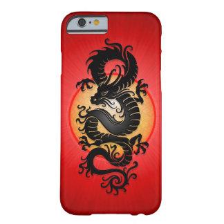 El rojo estalló el dragón chino funda de iPhone 6 barely there