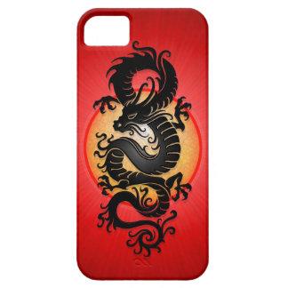 El rojo estalló el dragón chino iPhone 5 carcasas