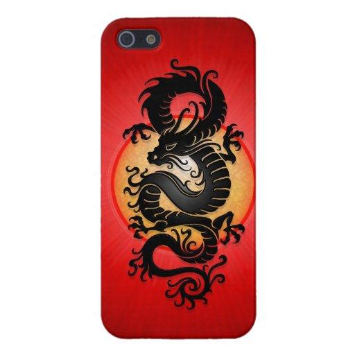 El rojo estalló el dragón chino iPhone 5 coberturas