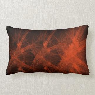 El rojo flamea la almohada de tiro cojín lumbar