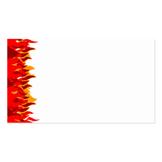 El rojo flamea la plantilla de la tarjeta de visit tarjetas de visita