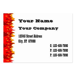 El rojo flamea la plantilla occidental de la tarje tarjetas de visita grandes