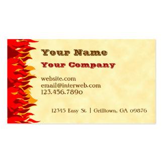 El rojo flamea la tarjeta de visita occidental de