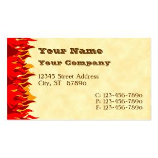 El rojo flamea tarjetas de visita occidentales de