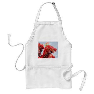 el rojo florece el delantal