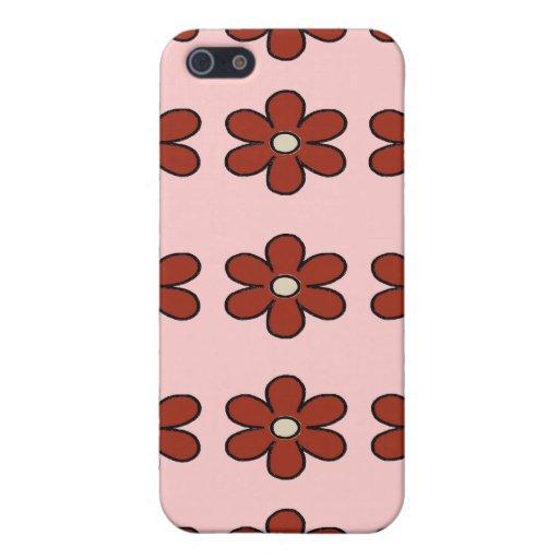El rojo florece la caja del iPhone 4/4S iPhone 5 Cárcasa