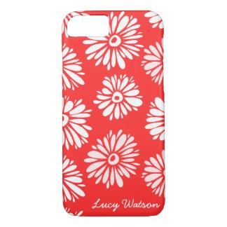 El rojo florece la caja del iPhone 7 Funda iPhone 7