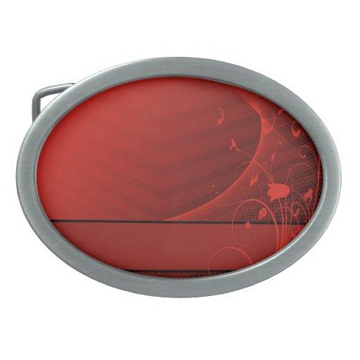 el rojo florece la hebilla del cinturón hebilla cinturon