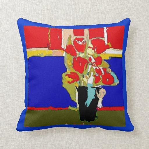 El rojo florece Matisse abstracto Hawaii Almohadas