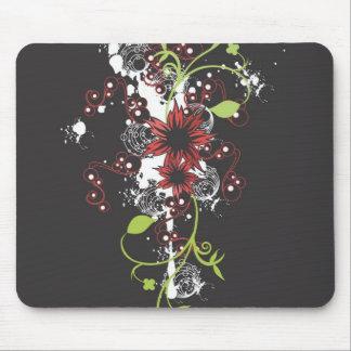 El rojo florece Mousepad