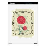 El rojo florece piel del iPad Skin Para El iPad 2