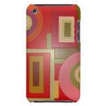 el rojo forma arte pop iPod touch protectores