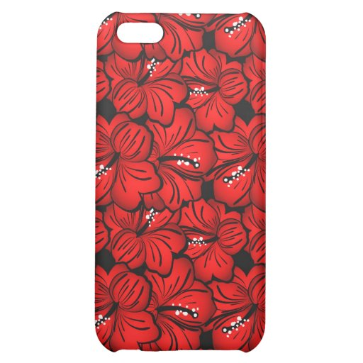 El rojo fresco florece la caja del iPhone