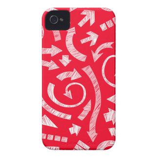 El rojo garabateó a flechas Blackberry el caso Case-Mate iPhone 4 Cobertura