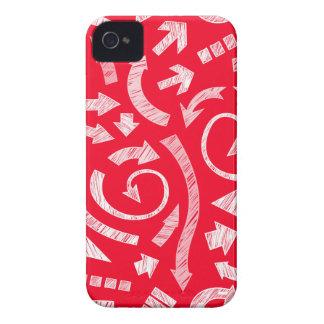 El rojo garabateó el caso del iPhone 4/4S de las Case-Mate iPhone 4 Protectores
