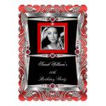 El rojo gotea la foto B de la plata del negro de Anuncios Personalizados