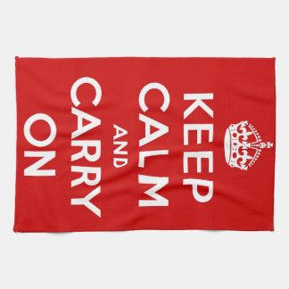 El rojo guarda calma y continúa toalla de mano