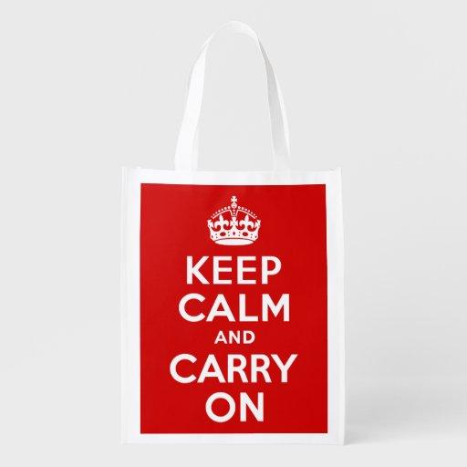 El rojo guarda calma y continúa bolsa reutilizable