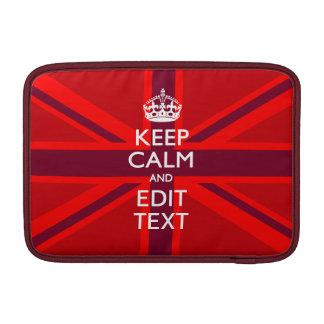 El rojo guarda calma y su texto en la bandera de U Fundas MacBook