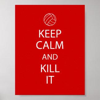 El rojo guarda el poster tranquilo del voleibol
