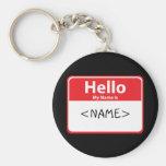 El rojo hola mi nombre es, <NAME> Llavero