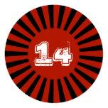 El rojo, la fiesta del cumpleaños del muchacho comunicado personalizado