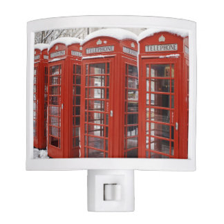 El rojo llama por teléfono cerca de Big Ben Lámparas De Noche