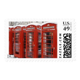 El rojo llama por teléfono cerca de Big Ben Sello Postal