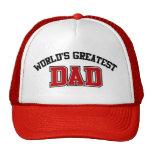 El rojo más grande del gorra del papá de los mundo