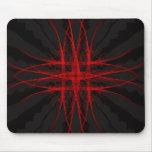 El rojo - modelo abstracto geométrico oscuro alfombrilla de raton