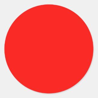 El rojo nada pero colorea las herramientas de leng pegatinas redondas
