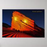 El rojo oscila el anfiteatro poster