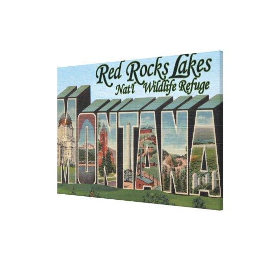 El rojo oscila el parque del lago, Montana Impresión En Lienzo Estirada