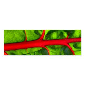 el rojo para la pasión y el verde para la esperanz plantillas de tarjetas personales