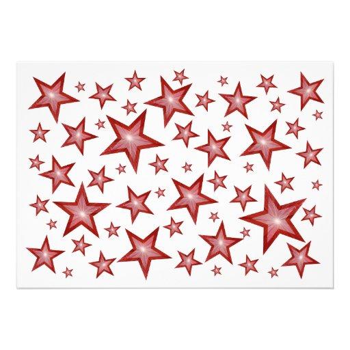 El rojo protagoniza blanco de la invitación